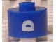 Gear No: bead029pb056  Name: Bead, Cylinder, Flat Edge with White 'D' Pattern