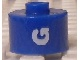 Gear No: bead029pb059  Name: Bead, Cylinder, Flat Edge with White 'G' Pattern