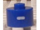Gear No: bead029pb061  Name: Bead, Cylinder, Flat Edge with White 'I' Pattern