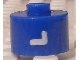 Gear No: bead029pb064  Name: Bead, Cylinder, Flat Edge with White 'L' Pattern