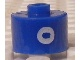 Gear No: bead029pb067  Name: Bead, Cylinder, Flat Edge with White 'O' Pattern