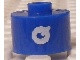 Gear No: bead029pb069  Name: Bead, Cylinder, Flat Edge with White 'Q' Pattern