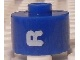 Gear No: bead029pb070  Name: Bead, Cylinder, Flat Edge with White 'R' Pattern