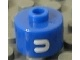 Gear No: bead029pb073  Name: Bead, Cylinder, Flat Edge with White 'U' Pattern