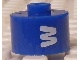 Gear No: bead029pb075  Name: Bead, Cylinder, Flat Edge with White 'W' Pattern