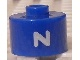 Gear No: bead029pb078  Name: Bead, Cylinder, Flat Edge with White 'Z' Pattern