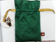 Gear No: DPouch  Name: Pouch with Draw Ribbon, Satin Feel with LEGO Tag, for Christmas Decoration