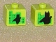 Gear No: bead004pb033  Name: Bead, Square with Batman Silhouette against Buildings Pattern on Opposite Sides