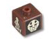 Gear No: bead004pb071  Name: Bead, Square with Bionicle Turaga Onewa and Komau Pattern (P1705)