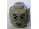 Gear No: bead006pb22  Name: Bead, Cylinder Large with Minifigure Head Pattern, Head Male Scars Gray Left, Black Eyebrows Pattern (Darth Vader original)
