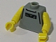Gear No: bead030pb03  Name: Bead, Minifig Style Torso with NBA Street Player Pattern