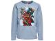 Gear No: tony714  Name: T-Shirt, Ninjago Kai, Jay, Titanium Zane Boys Long Sleeve (Tony 714)