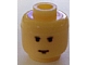 Gear No: bead006pb21  Name: Bead, Cylinder Large with Minifig Head Pattern, Male SW Brown Eyebrows and Chin Dimple Pattern