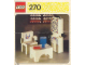 Instruction No: 270  Name: Grandfather Clock, Chair and Table