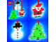 Instruction No: 4759  Name: Three Christmas Decorations - Santa, Tree and Snowman