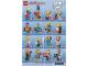 Instruction No: 71009  Name: Minifigure, The Simpsons, Series 2 (Complete Random Set of 1 Minifigure)