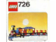 Instruction No: 726  Name: 12V Western Train with 2 Wagons and Cowboys