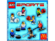 Instruction No: 7917  Name: McDonald's Sports Set Number 3 - Blue Basketball Player #22 polybag
