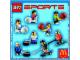 Instruction No: 7920  Name: McDonald's Sports Set Number 5 - Blue Hockey Player #4 polybag