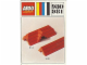 Instruction No: 980  Name: 23 sloping bricks, including roof peak bricks, Red