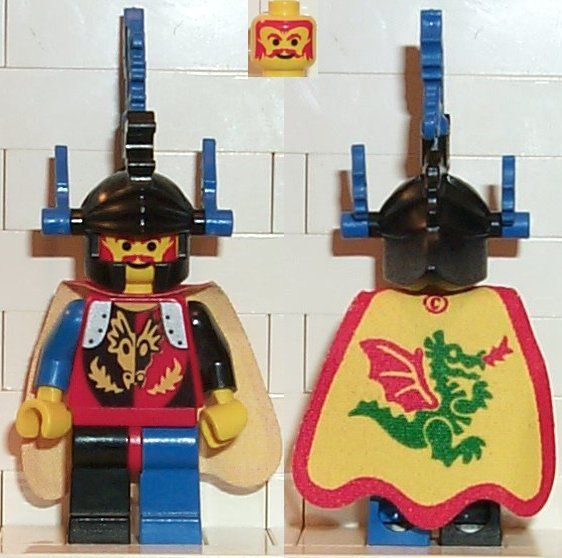 cas013 Lego mini figure-Castle-Dragon Knight 1