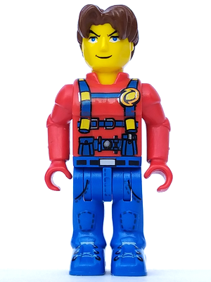 LEGO Jack Stone 4 Juniors Minifig Figure with Blue Vest and Black Arms