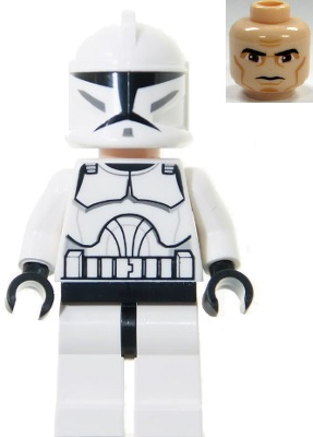 Lego Star Wars Black Armour Pauldron SW0286 SW0223 Clone Trooper commander