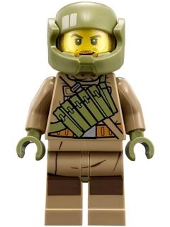 75189 Dark Tan Hoodie Jacket Lego Minifig: Resistance Trooper - sw867