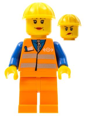 Trn145 Orange Vest With Safety Stripes