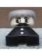 Minifig No: 2327pb29  Name: Duplo 2 x 2 x 2 Figure Brick, Black Base with Two Buttons, Gray Hair, White Face with Moustache