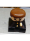 Minifig No: 2327pb33  Name: Duplo 2 x 2 x 2 Figure Brick, Black Base with Police Pattern, White Head with Moustache, Brown Male Hair