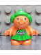 Minifig No: 31231pb04  Name: Duplo Figure Little Forest Friends, Female, Green Dress with Flowers (Trixie Toadstool)