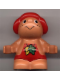 Minifig No: 31232pb01  Name: Duplo Figure Little Forest Friends, Male, Red Outfit with Leaves (Baby Jelly Strawberry)