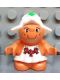 Minifig No: 31234pb04  Name: Duplo Figure Little Forest Friends, Female, White Dress with Three Red Mushrooms (Snoozy Meadowsweet)