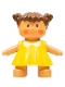 Minifig No: 31312pb02  Name: Duplo Figure Doll, Lisa's Baby, Yellow Dress