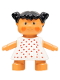 Minifig No: 31312pb04  Name: Duplo Figure Doll, Marie's Baby, White Dress with Red Dots
