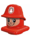 Minifig No: 45219c02  Name: Primo Figure Head Fireman with Helmet