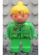 Minifig No: 4555pb021  Name: Duplo Figure, Female, Wendy in Wallpapering Outfit