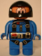 Minifig No: 4555pb026  Name: Duplo Figure, Male Action Wheeler, Blue Legs, Blue Jumpsuit with Parachute Straps, Black Racing Helmet