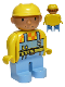 Minifig No: 4555pb030  Name: Duplo Figure, Male, Bob the Builder