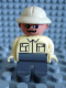 Minifig No: 4555pb073  Name: Duplo Figure, Male, Dark Gray Legs, Tan Top, Pith Helmet, Moustache