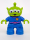 Minifig No: 47205pb022  Name: Duplo Figure Lego Ville, Toy Story Alien