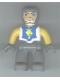 Minifig No: 47394pb005  Name: Duplo Figure Lego Ville, Male Castle, Dark Bluish Gray Legs, White Chest, Yellow Arms, Dark Bluish Gray Hands
