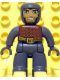 Minifig No: 47394pb053  Name: Duplo Figure Lego Ville, Male Castle, Dark Bluish Gray Legs, Brown Chest, Dark Bluish Gray  Arms, Dark Bluish Gray Hands