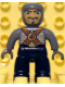 Minifig No: 47394pb054  Name: Duplo Figure Lego Ville, Male Castle, Black Legs, Dark Bluish Gray Chest with Brown Belts, Dark Bluish Gray  Arms, Dark Bluish Gray Hands