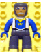Minifig No: 47394pb055  Name: Duplo Figure Lego Ville, Male Castle, Dark Bluish Gray Legs, White Chest, Blue Arms, Blue Hands