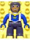 Minifig No: 47394pb055  Name: Duplo Figure Lego Ville, Male Castle, Dark Bluish Gray Legs, White Chest, Blue Arms, Blue Hands