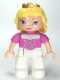 Minifig No: 47394pb147  Name: Duplo Figure Disney Princess, Sleeping Beauty (Lego Ville)