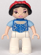 Minifig No: 47394pb148  Name: Duplo Figure Disney Princess, Snow White (Lego Ville)