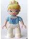 Minifig No: 47394pb149  Name: Duplo Figure Disney Princess, Cinderella (Lego Ville)